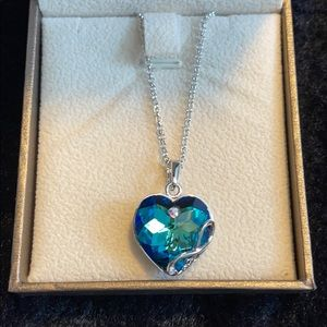 I love you to the moon and back Swarovski necklace